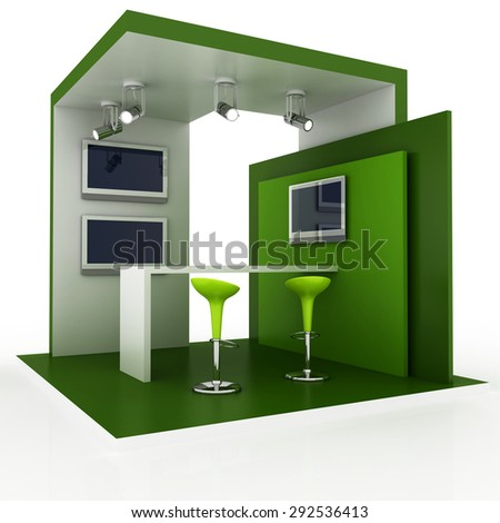 D Exhibition Booth Model : Empty blank exhibition booth original d stock illustration