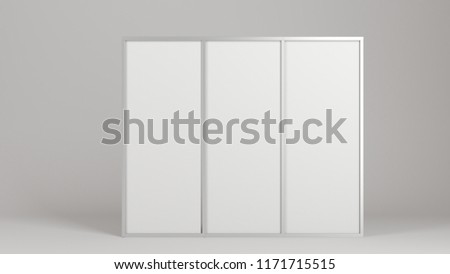 Royalty Free Stock Illustration of Empty Blank Stand Booth Mockup