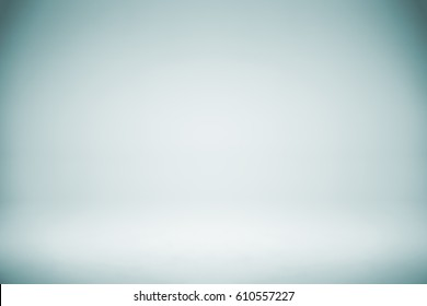 Empty Blue White Studio Backdrop,abstract, gradient grey background for design
