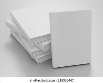 Empty book mockup template