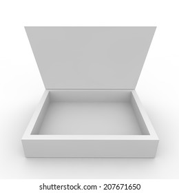 Empty box on the white isolated background