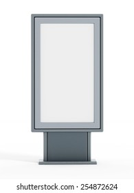 Empty bus shelter CLP isolated on white background