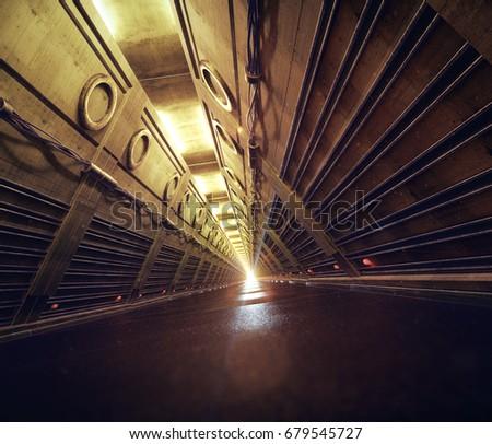 empty concrete subway fallout