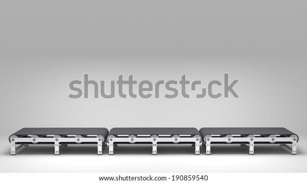 empty conveyor belt  for use in presentations, manuals, design, etc.