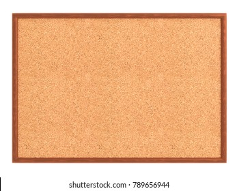 Empty cork board (noticeboard) isolated on white. Mockup template - 3D rendering
