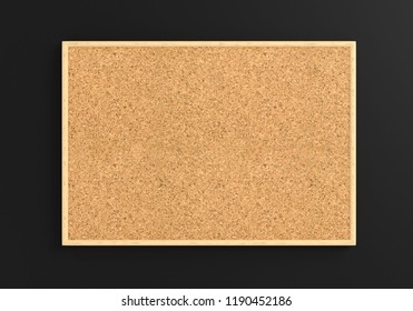 Empty cork board (noticeboard) on gray background. Mockup template -
