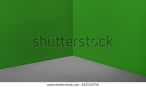 Empty corner dark green wall and dark grey floor perspective room,Modern style room,Mock up for display of product,business presentation