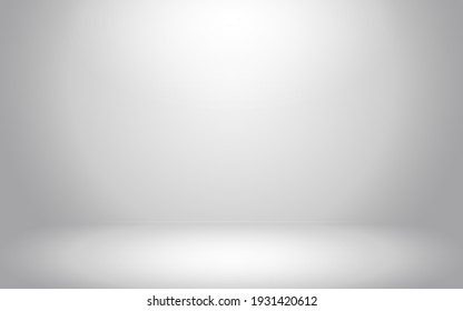Empty dark gray room with gradient gray abstract background for display your product