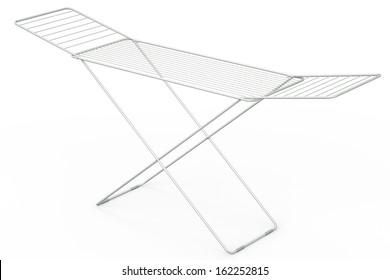 Empty drying rack, 3D rendered illustration.