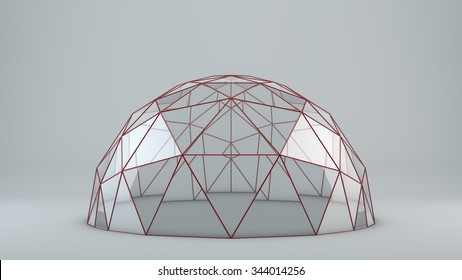 Empty glass dome