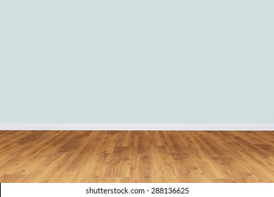 Empty gray wall room with wooden floor