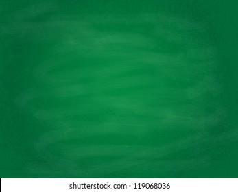 Empty green chalkboard background/texture illustration