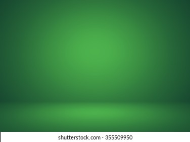 Empty Green Studio well use as background,backdrop,digital template.