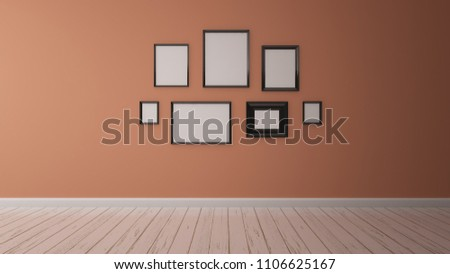 Royalty Free Stock Illustration of Empty Interior Pastel Orange Wall ...