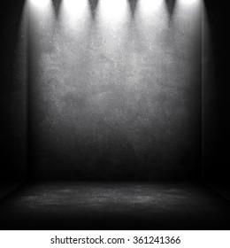 empty interior with spotlight background
