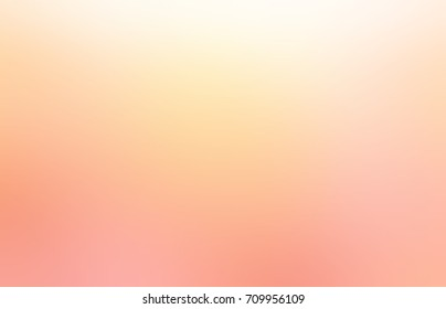 Empty light peach background. Pale yellow orange rose blurred texture. Pastel glow abstract background. Warm festive matte texture.