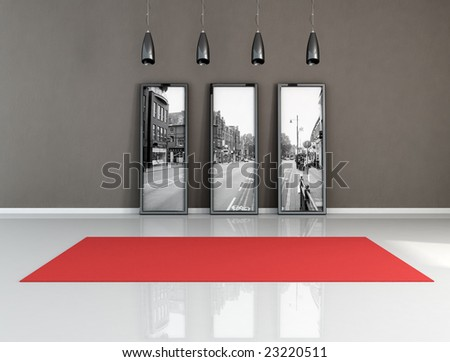 Royalty Free Stock Illustration Of Empty Living Room Red Carpet