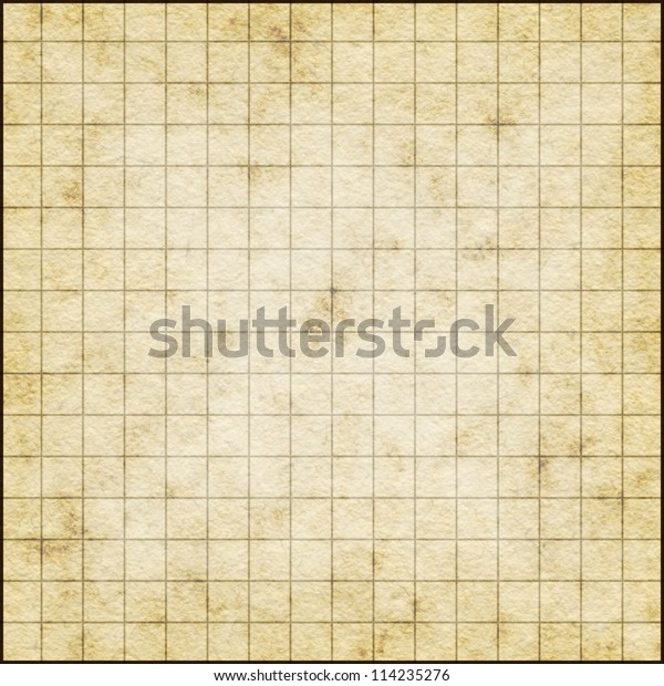 Empty Map Template On Old Paper Stock Illustration 114235276