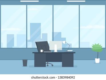 empty modern office interior. Clipart image