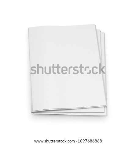 Empty Newspaper Template On White Background 3d Illustration