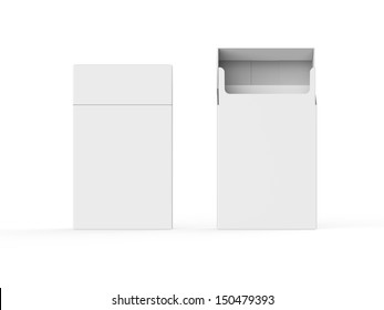 Empty Pack of Cigarettes Isolated