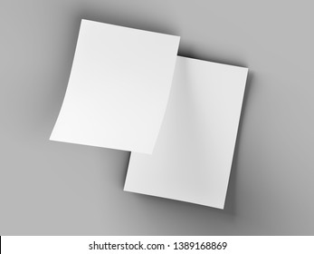 Empty paper sheet in A4 format - 3d illustration