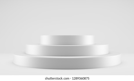 Empty pedestal to advertise your products. Background pattern for trading. Presentation of goods or new items. 3d illustration