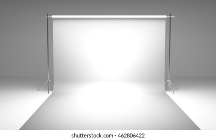 Empty photography studio background  template 3d render