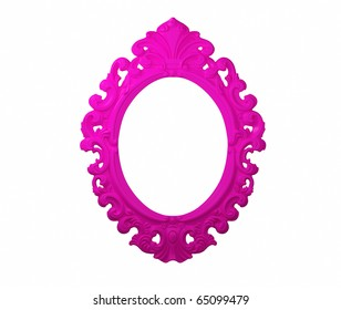 Empty Picture Frame in pink.