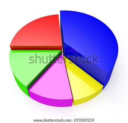 Empty Pie Chart Graph Information Business Stock Illustration