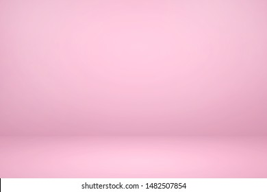 Empty pink studio room with light and shadow abstract background. Copy space studio room for present your products.