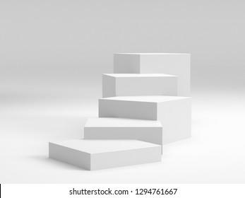 Empty Platorm Scence Studio Or Pedestal For Display, 3D render