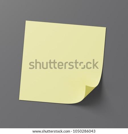 empty post note sticky note mockup stock illustration 1050286043