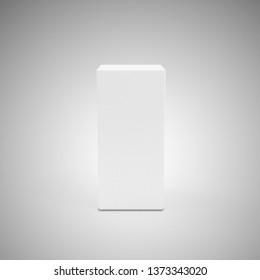 Empty Presentation Stand on gradient background. 3D Rendering