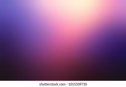 Empty purple glow background. Blurred dark colored texture. Abstract romantic night illustration. Defocused magic image.