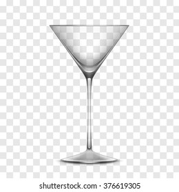 Empty Realistic Glass Isolated on Transparent Background