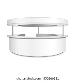Empty retail stand. Illustration isolated on white background. Graphic concept for your design, 3d illustration