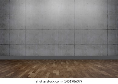 empty room with copy space,mock up concept.3d rendering