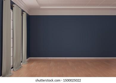 Empty room design interior 3d render