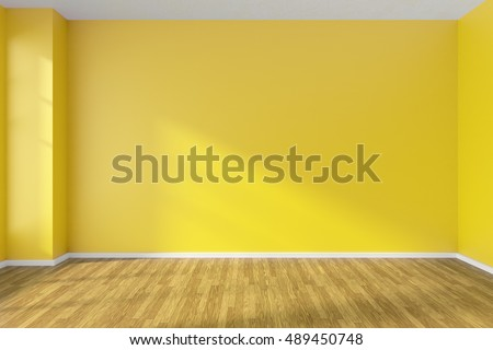 empty room hardwood parquet floor yellowのイラスト素材 489450748