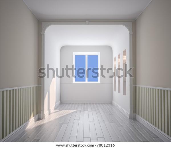 empty room interior (computer generated image)