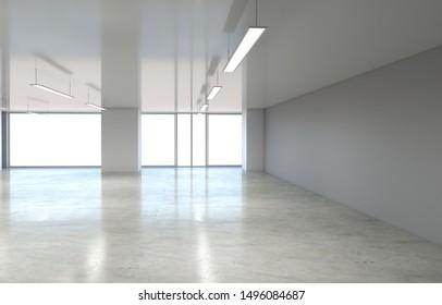 empty room, interior visualization, 3D illustration