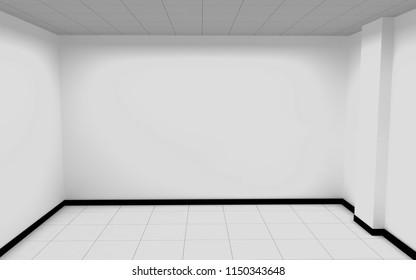 Empty room with sunlight