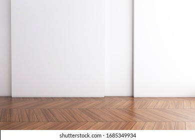 Empty room with Wall Background. 3D illustration, 3D rendering