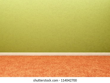 Empty room with wall and carpeting floor