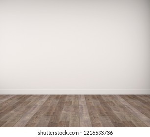empty room with wooden floor