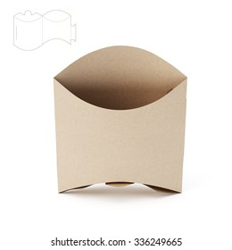 Empty Sandwich Package with Die Cut Template