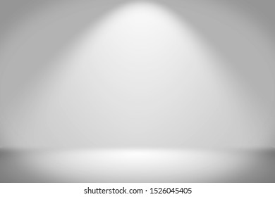 Empty scene light background with spotlights, Room studio backdrop gradient with spotlight for advertising background and display your product