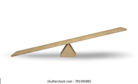 Empty Seesaw concept made with 3d rendering...