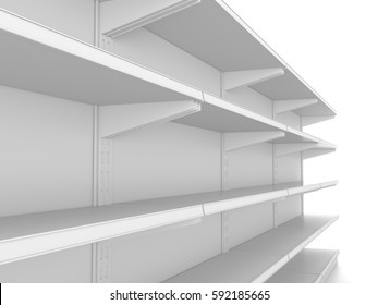 Empty shelf. 3D rendering